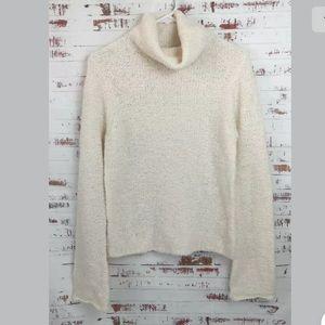 J Crew Boucle Turtle Neck Sweater Ivory